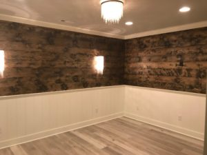 Atlanta Basement Creations, basement, niche, trim