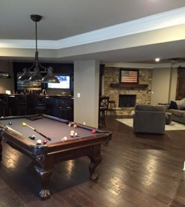 Atlanta Basement Creations, basement, game room