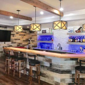 Atlanta Basement Creations. basement, bar